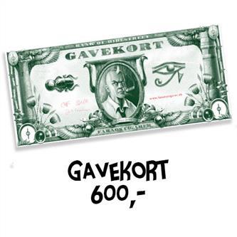 Gavekort 600 kr.